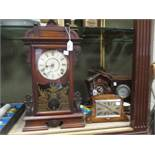 Two wall clocks, a cuckoo clock and two mantle clocks (5)