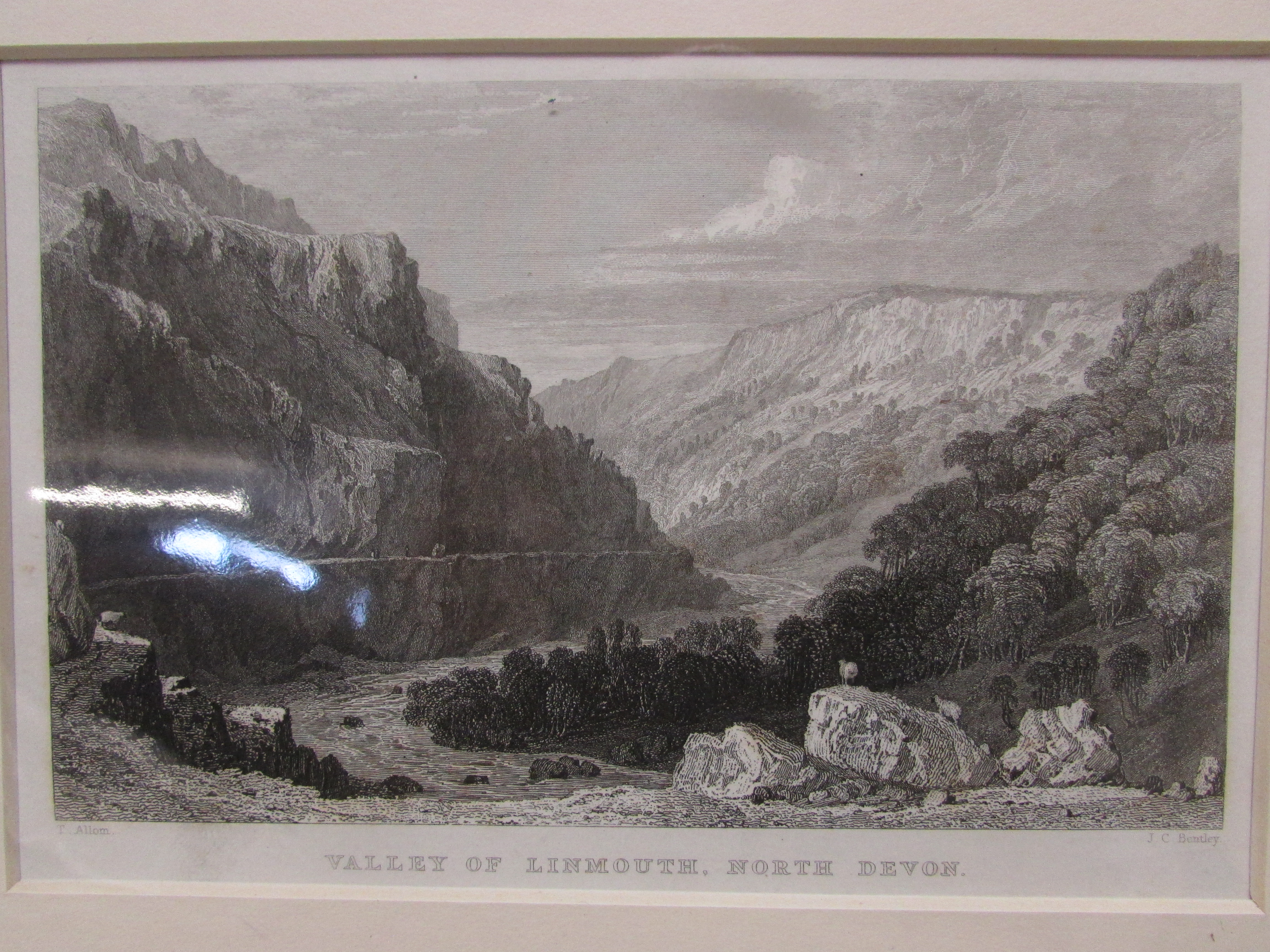 Lot 104 - FIVE MOUNTED PICTURES OF LYNTON AND LYNMOUTH