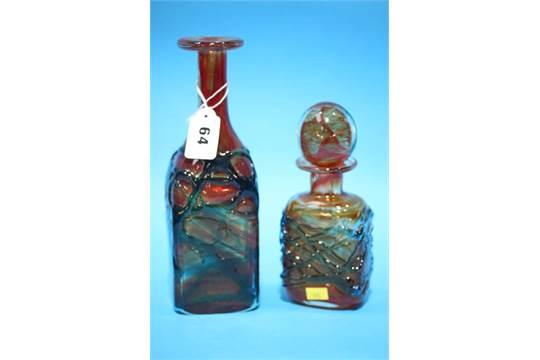 Mdina Glass Decanter And Mdina Vase