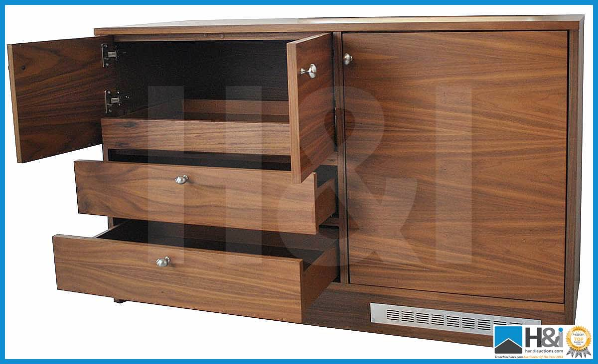 Lot 25 - Stunning black walnut bedroom furniture set comprising: 2-door wardrobe - H 193cm x W 110cm