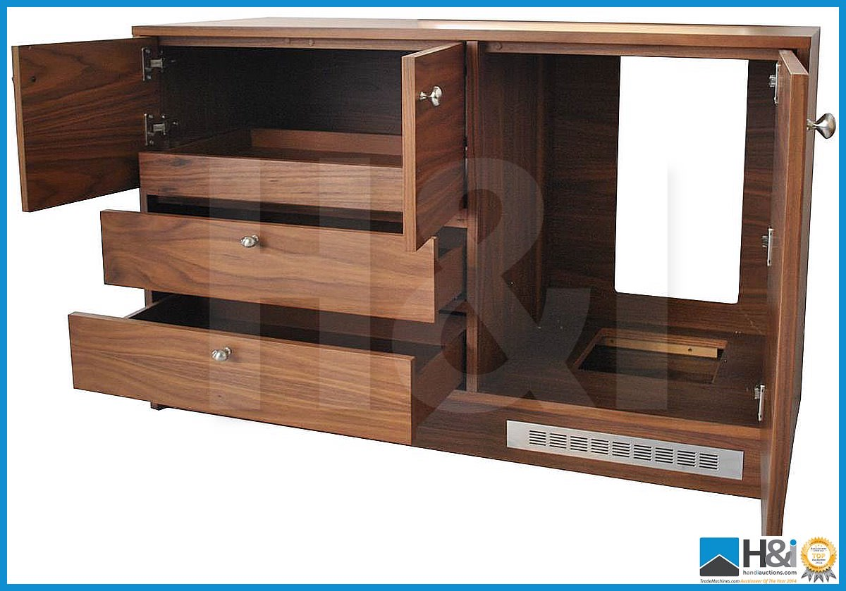 Lot 27 - Stunning black walnut bedroom furniture set comprising: 2-door wardrobe - H 193cm x W 110cm