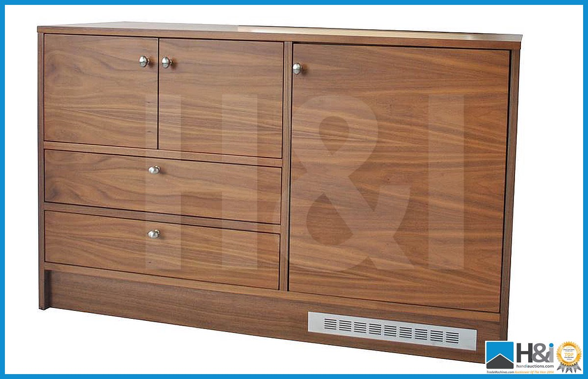 Lot 18 - Stunning black walnut bedroom furniture set comprising: 2-door wardrobe - H 193cm x W 110cm