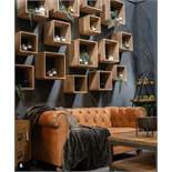 Set Of 4 Wooden Hanging Display Cubes Four Tier Wooden Display Cubes, extremely practical with