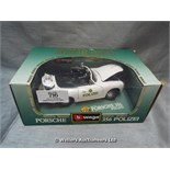 *BURAGO PORCHE 346 POLIZEI DIE CAST MODEL / GRADE: UNCLAIMED PROPERTY / BOXED (DC2)[MK070515-1716}