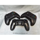 *X2 XBOX ONE CONTROLLERS AND X1 PS4 CONTROLLER / GRADE: UNCLAIMED PROPERTY / UNBOXED (DC2)[