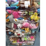 *CAGE OF MIXED SOFT TOYS INC CARE BEARS, BEE MOVIE, POKEMON, KEEL TOYS ETC / GRADE: UNCLAIMED