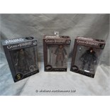 *X3 LEGACY COLLECTION GAME OF THRONES FIGURINES / GRADE: UNCLAIMED PROPERTY / BOXED (DC2)[MK070515-