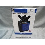 *NUMSKULL PS4 GAMES TOWER AND CHARGER / GRADE: UNCLAIMED PROPERTY / BOXED (DC2)[MK070515-1735}