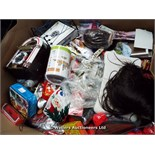 *PALLET OF MIXED LOOSE AND PACKAGED TOYS INC SKYLANDERS AND ANGRY BIRDS BAGS, GTA 5 STICKERS,