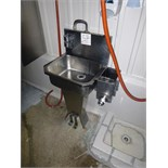 s/s hand wash sink, pedestal, foot operated