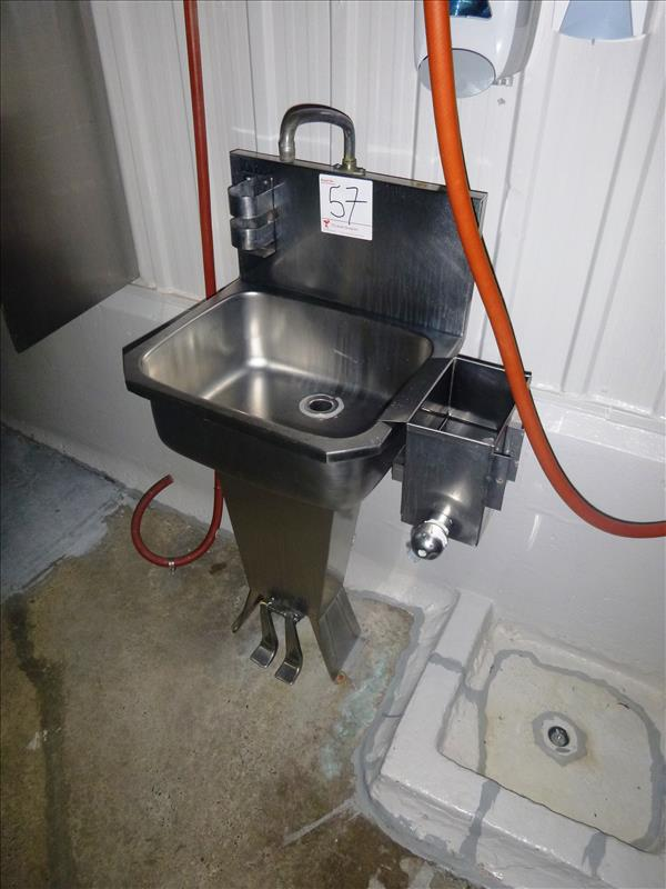 S S Hand Wash Sink Pedestal Foot Operated