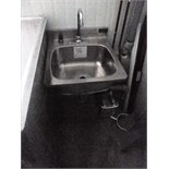 s/s hand wash sink, wall mounted, foot operated