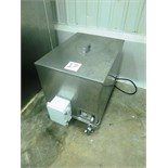 Den-mar s/s heating tank on casters, mod. BC-30, ser. no. BC-00146