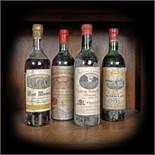 Famous Bordeaux wine selection, 1959/1969, 4b x 0.75l
