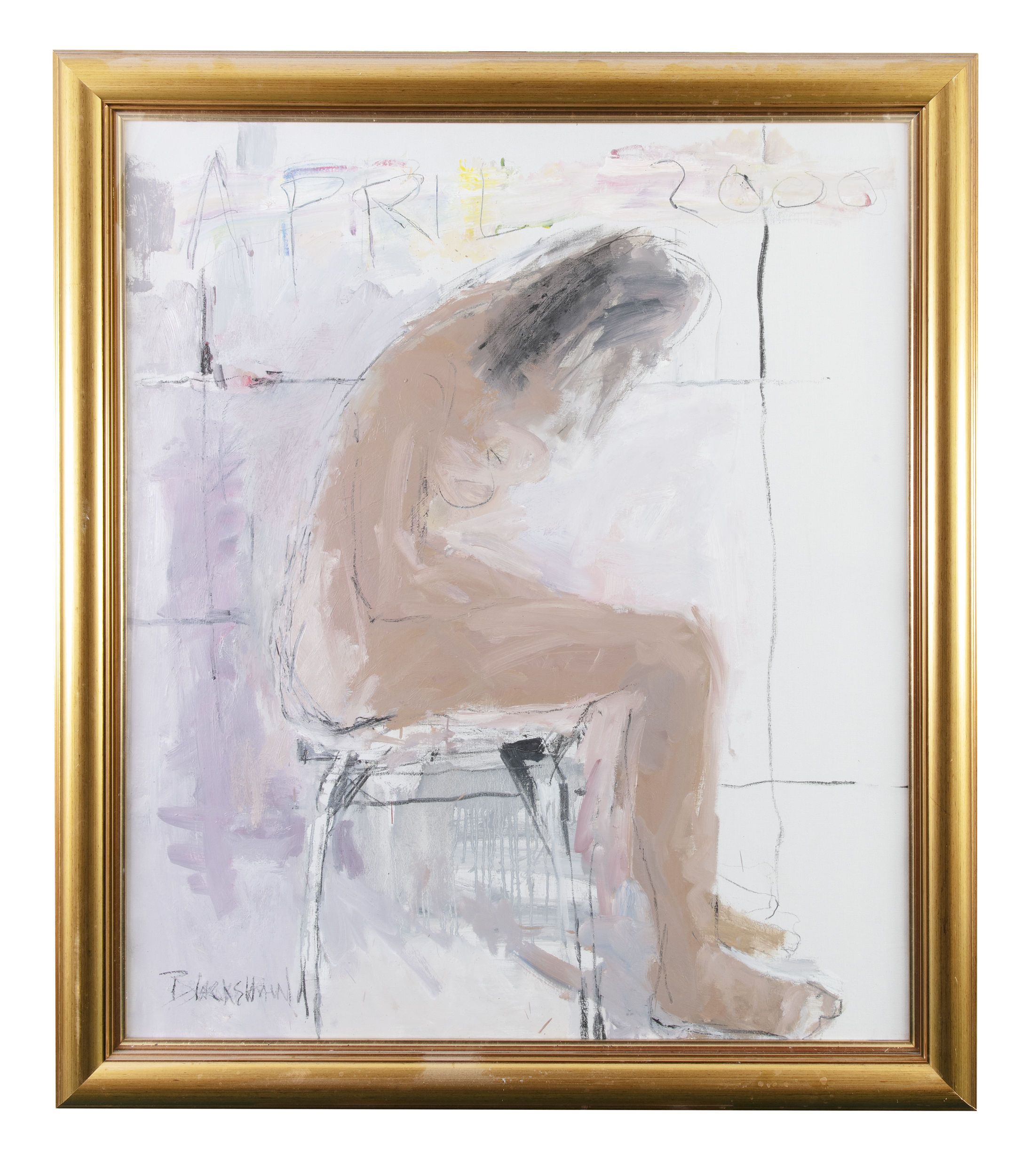 Basil Blackshaw HRHA RUA (1932-2016)Seated Figure (Jude)Oil on canvas, 99 x 84cm (39 x 33)Signed and - Image 2 of 4