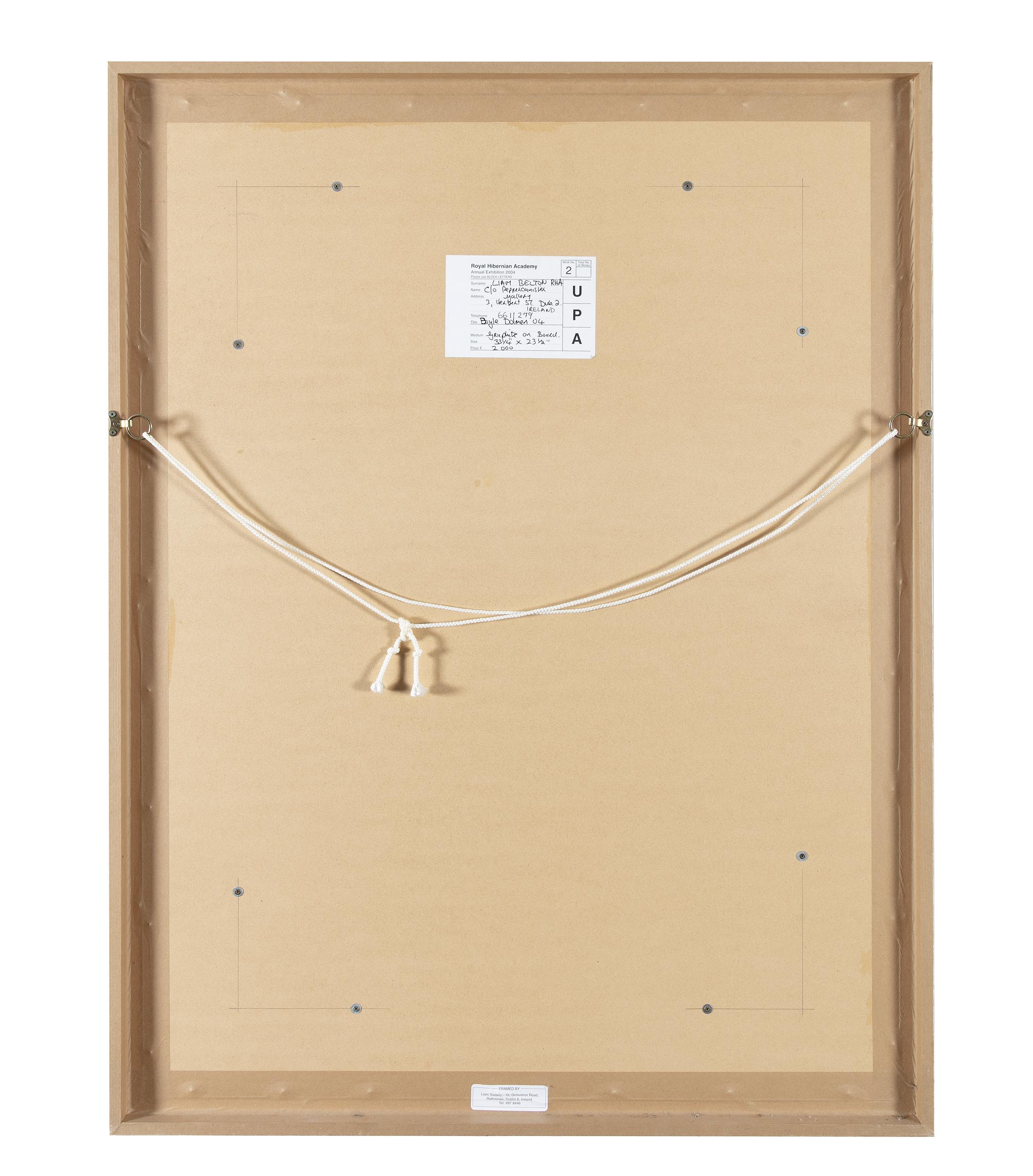 Liam Belton RHA (b.1947)Boyle DolmenGraphite on board, 84 x 60cm (33 x 23¾)SignedExhibited: RHA - Image 4 of 4