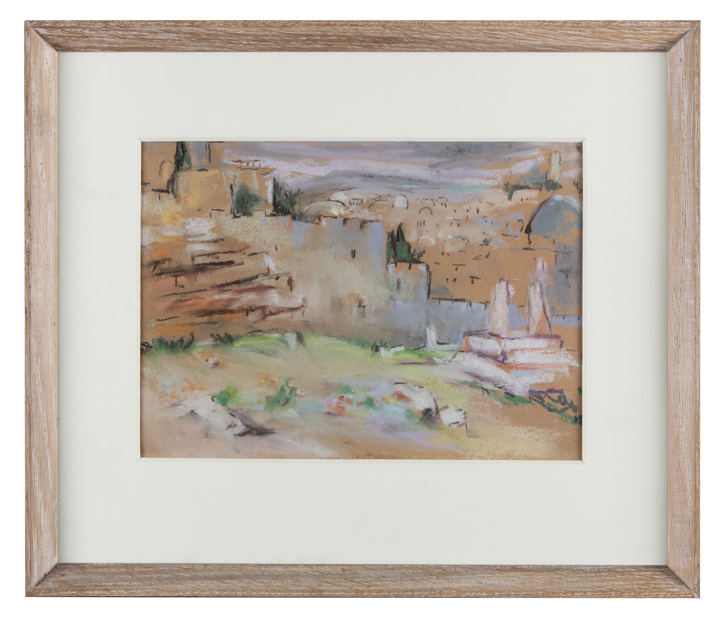 Lot 54 - May Guinness (1863-1955)Site of CrucifixionPastel, 22 x 30cm (8½ x 12)Provenance: With The Dawson