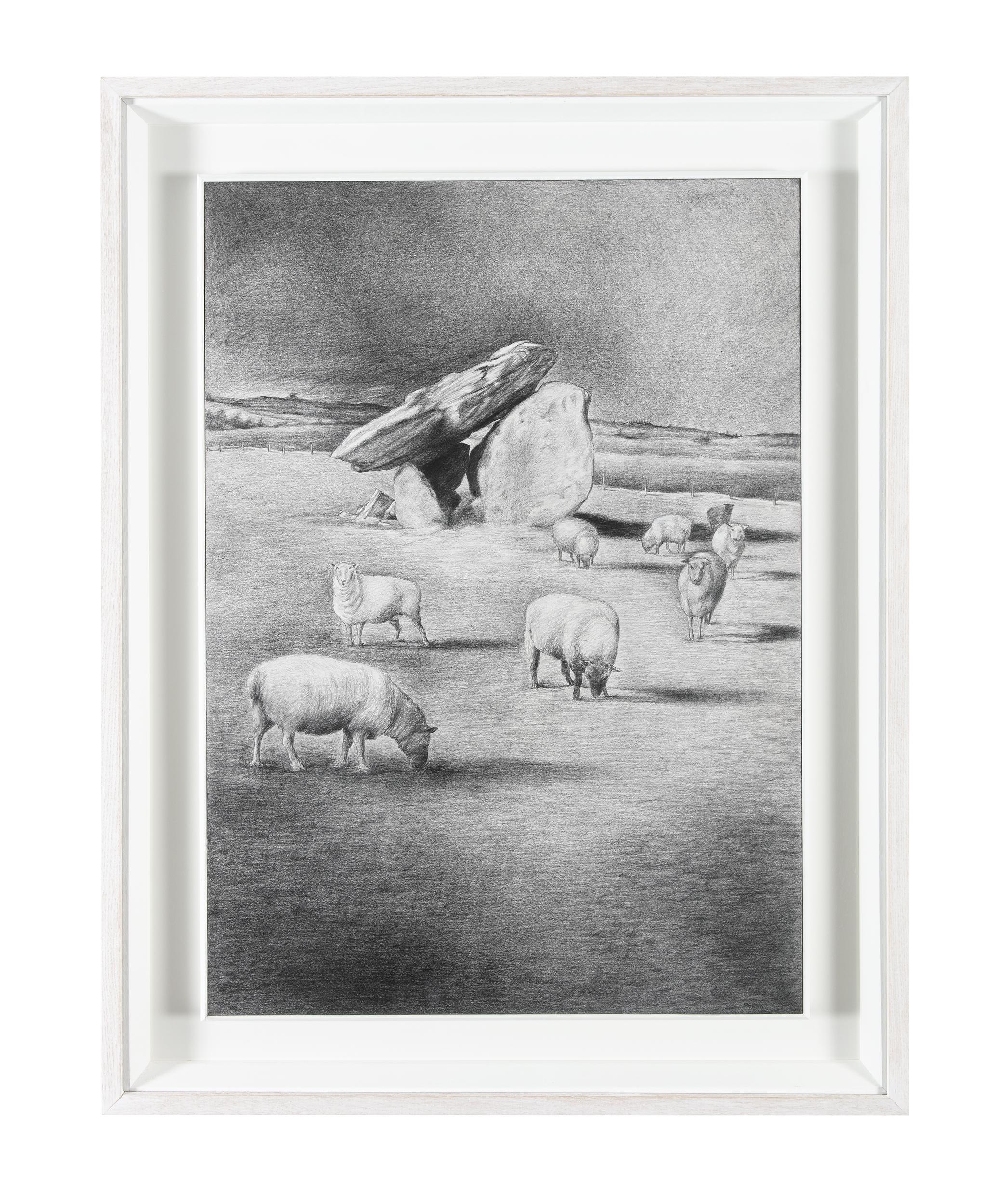 Liam Belton RHA (b.1947)Boyle DolmenGraphite on board, 84 x 60cm (33 x 23¾)SignedExhibited: RHA - Image 2 of 4