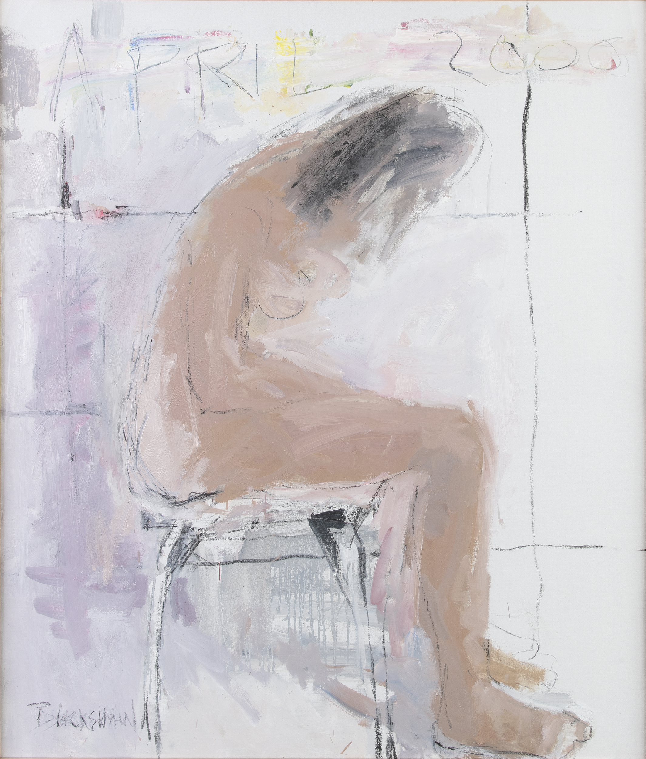 Basil Blackshaw HRHA RUA (1932-2016)Seated Figure (Jude)Oil on canvas, 99 x 84cm (39 x 33)Signed and
