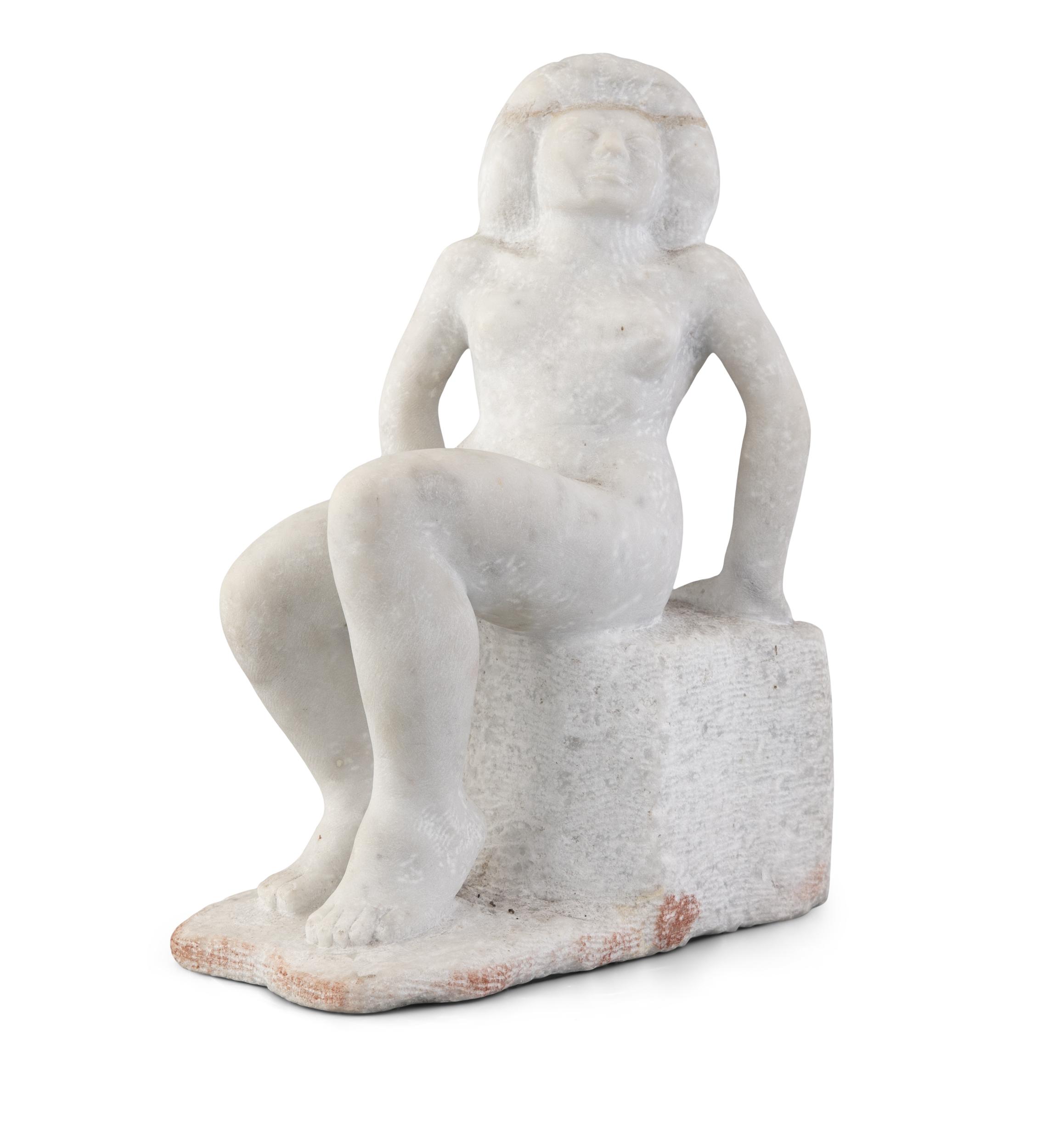 James McKenna (1933-2000)Dúil (Longing) (1969)White marble, 35 x 28 x 18cm (13¾ x 11 x 7)