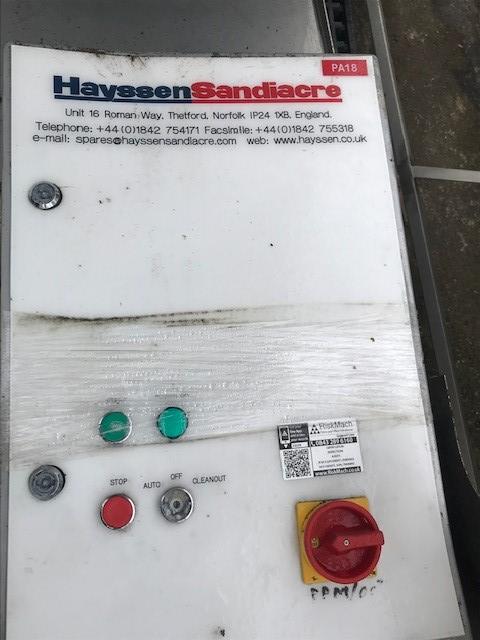 Lot 6 - Hayseen Sandiacre SWAN NECK FEED CONVEYOR, serial