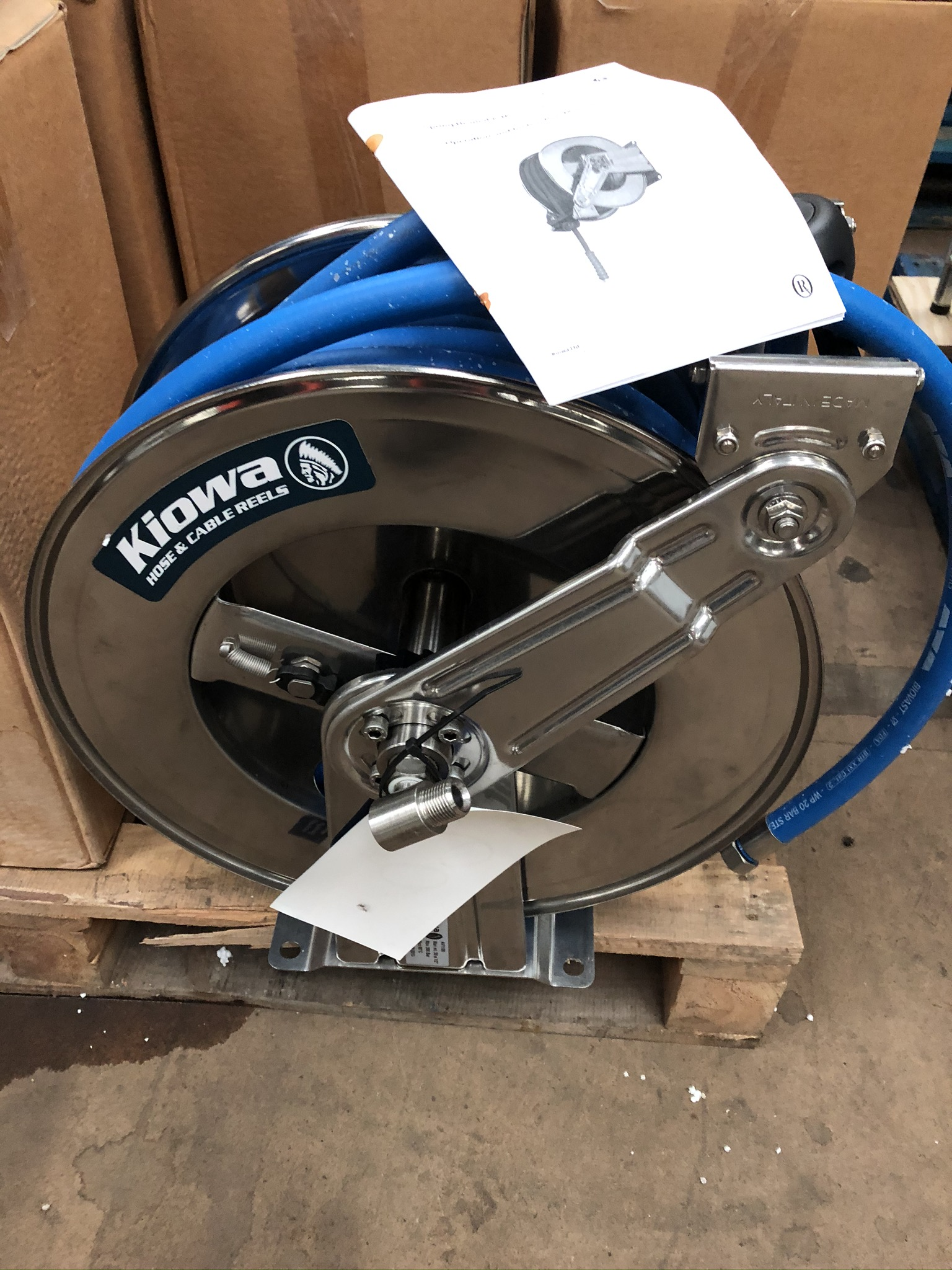 Lot 61 - Kiowa Spring Rewind & Manual Hose Reel, plant no.