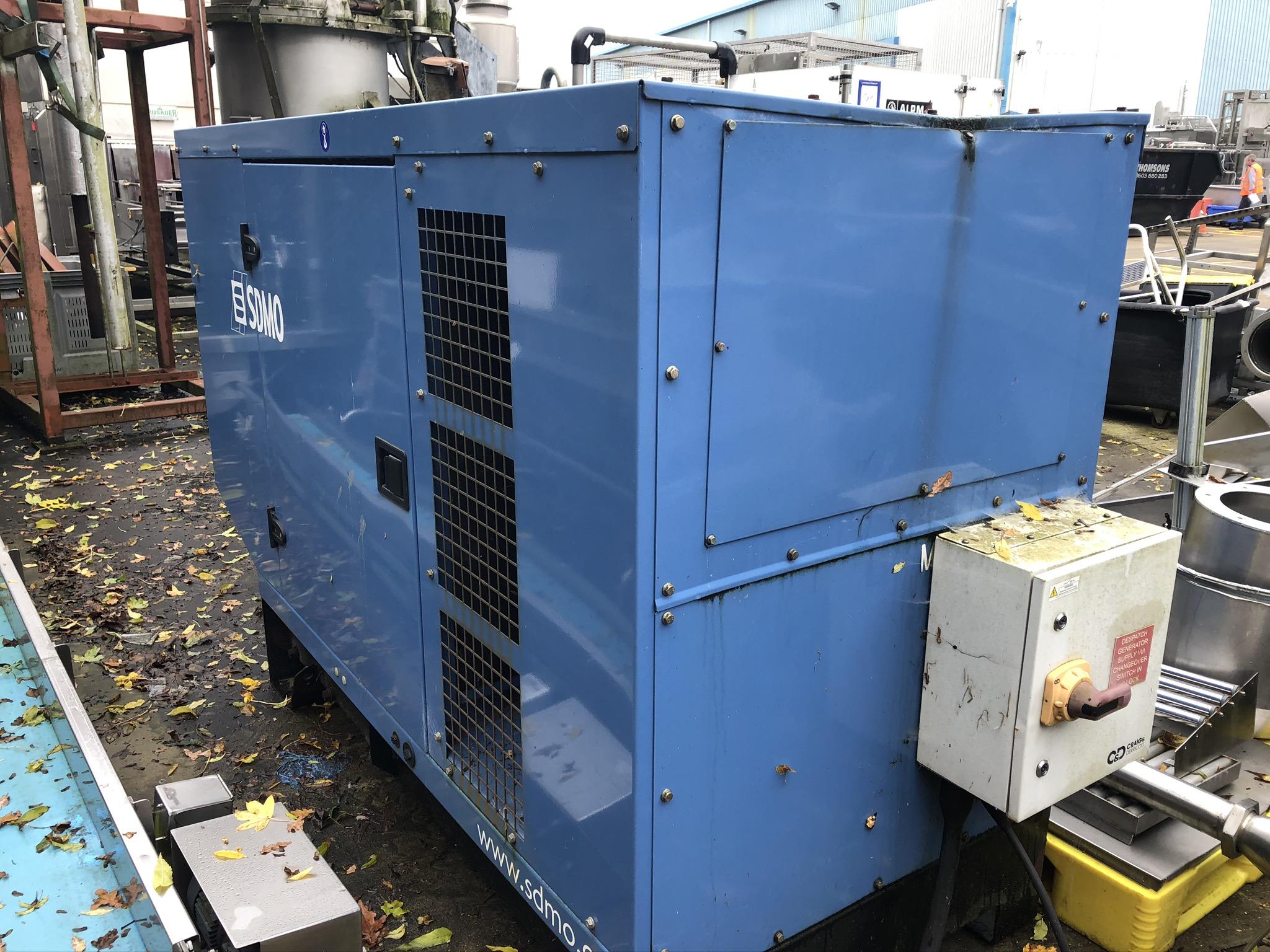 Lot 54 - SDMO J66K0709753 66kVA Generator, with John Deere