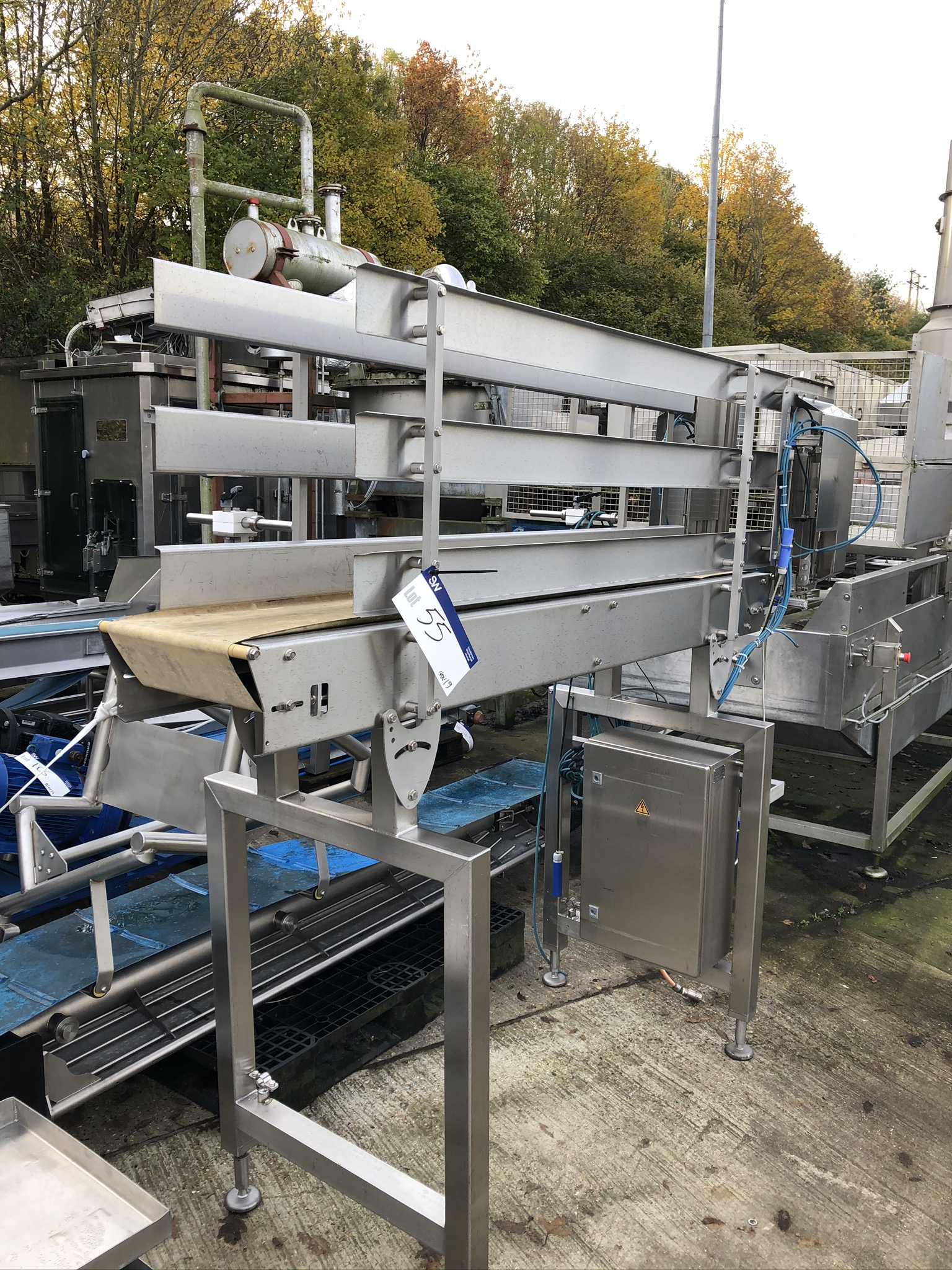 Lot 55A - CFS High Sided Conveyor, dimensions approx. 300mm