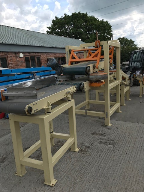 Lot 2 - SACK FEED CONVEYOR SYSTEM, all 500mm wide, belt co