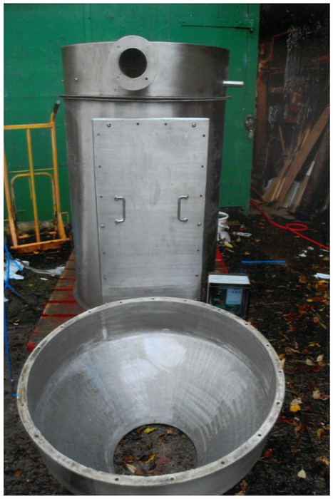 Lot 15 - Stainless Steel Receiving Dust Filter Unit Pod, bo
