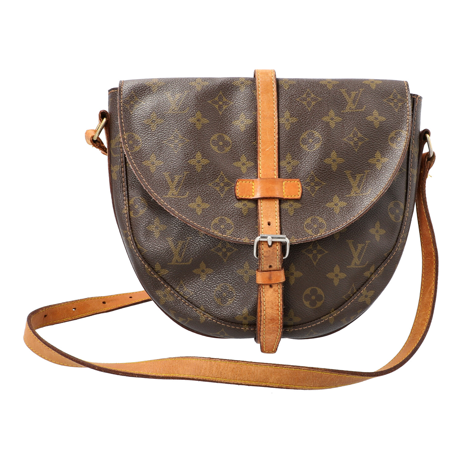 "LOUIS VUITTON VINTAGE Umhängetasche ""CHANTILLY GM"".Monogram Canvas Serie, Rindslederdetails mit"