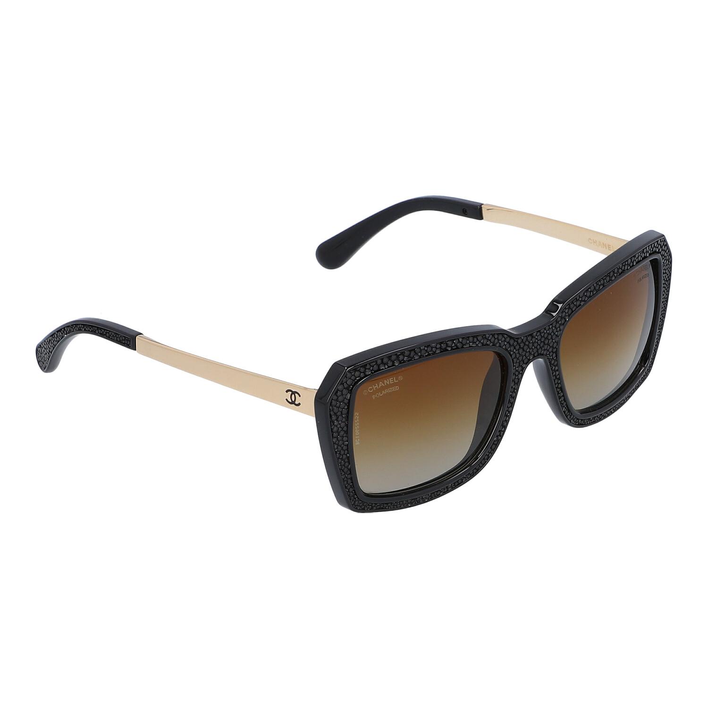 """Los 37 - CHANEL Sonnenbrille """"C622/S9"""", akt. NP.: 300,-€.Polarisierte Gläser in Bronzefarben mit Farbverlauf,"""