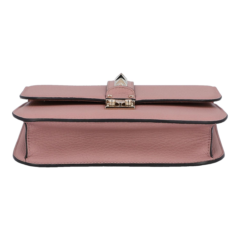 """Los 9 - VALENTINO Handtasche """"ROCKSTUD"""", NP.: 1.680,-€.Genarbtes Leder in Mauve mit goldfarbener Hardware,"""