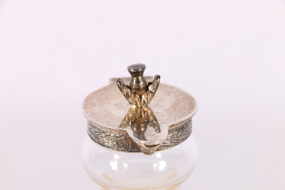 Royal Brierley glass whisky noggin with silver thistle mounts byHayward & Stott (Scottish - Image 3 of 4