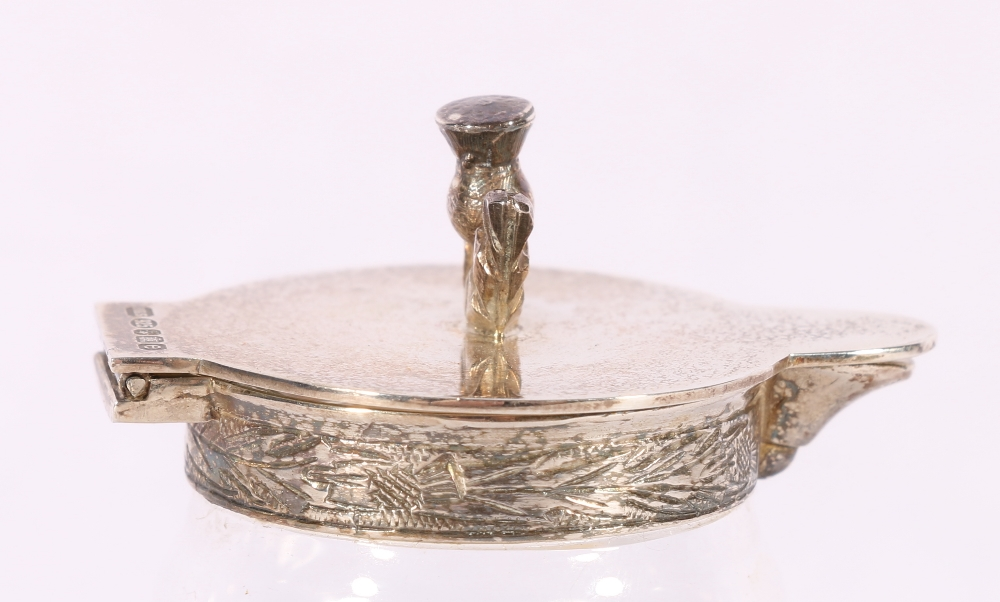 Royal Brierley glass whisky noggin with silver thistle mounts byHayward & Stott (Scottish - Image 2 of 4