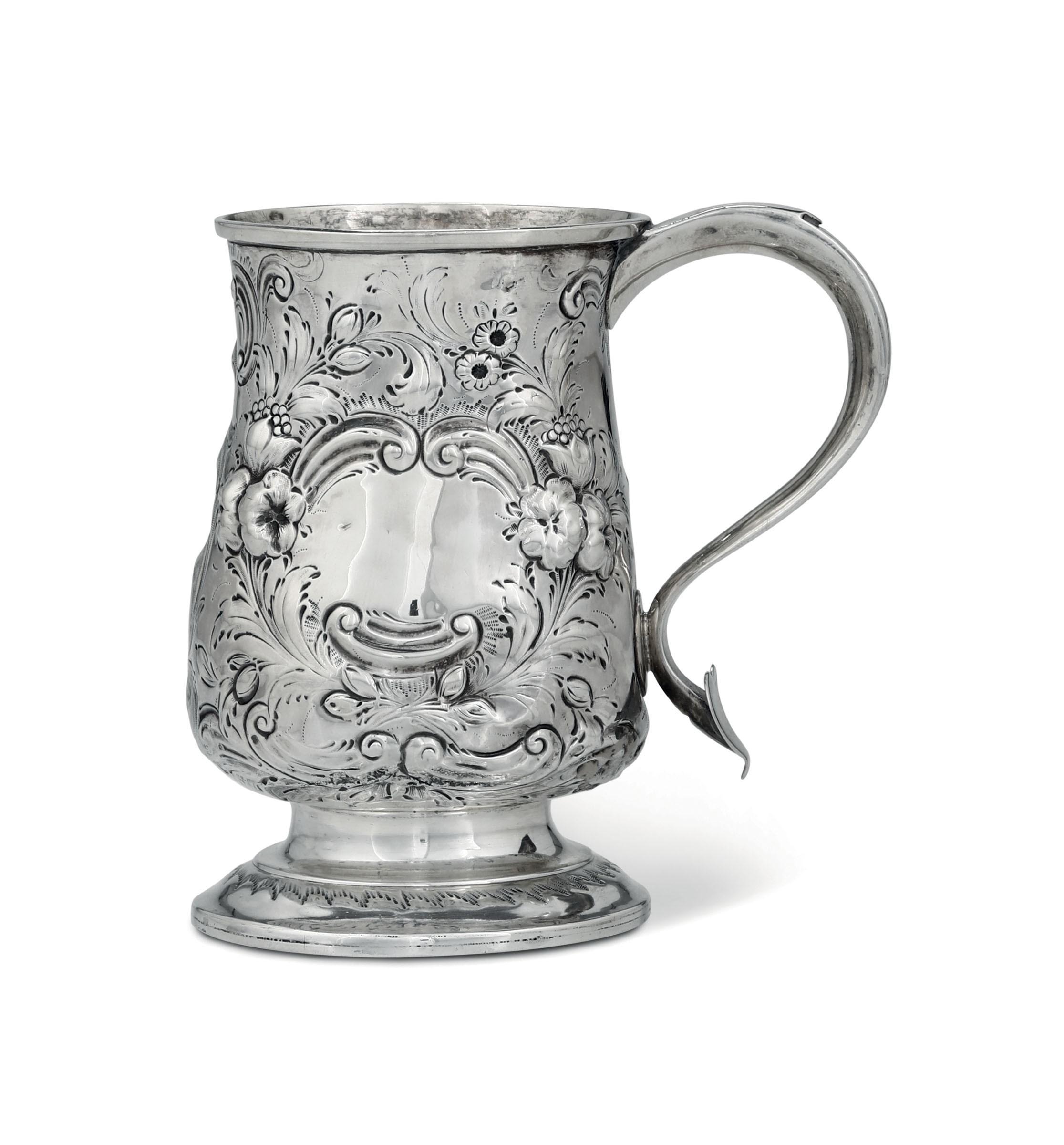 A silver tankard, London, 1759 - H 13.3cm, 260gr -