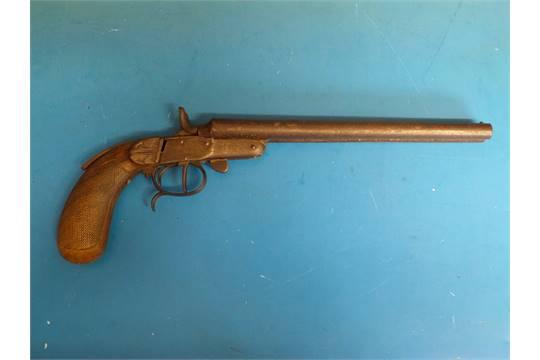 A Belgian Tuckaway  410 double barrelled shotgun pistol, 9 5