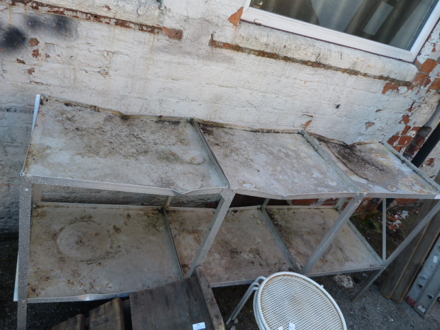 Lot 31 - Aluminium Greenhouse Sewing Bench