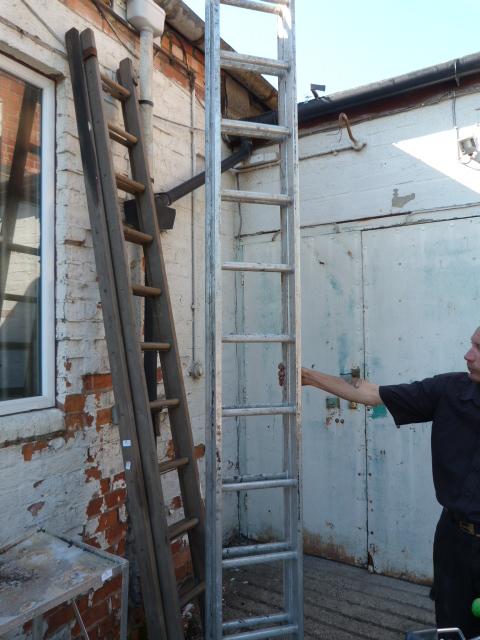 Lot 30 - Extending 22 Tread Aluminum Ladder