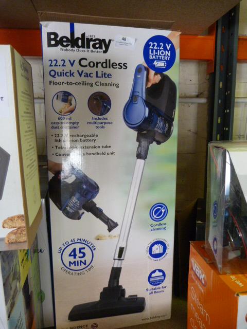Lot 48 - *Beldray 22.2V Cordless Vacuum