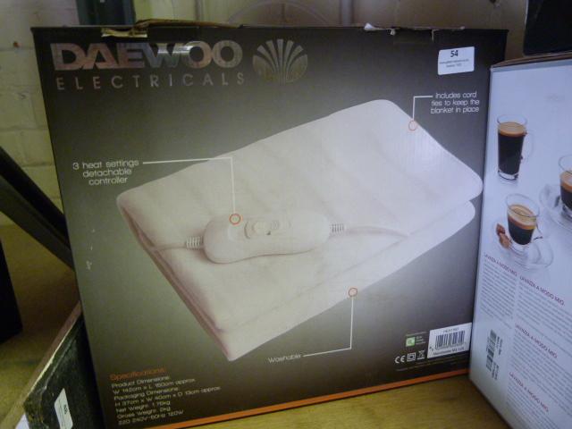 Lot 54 - *Daewoo Electrical King Size Heated Blanket
