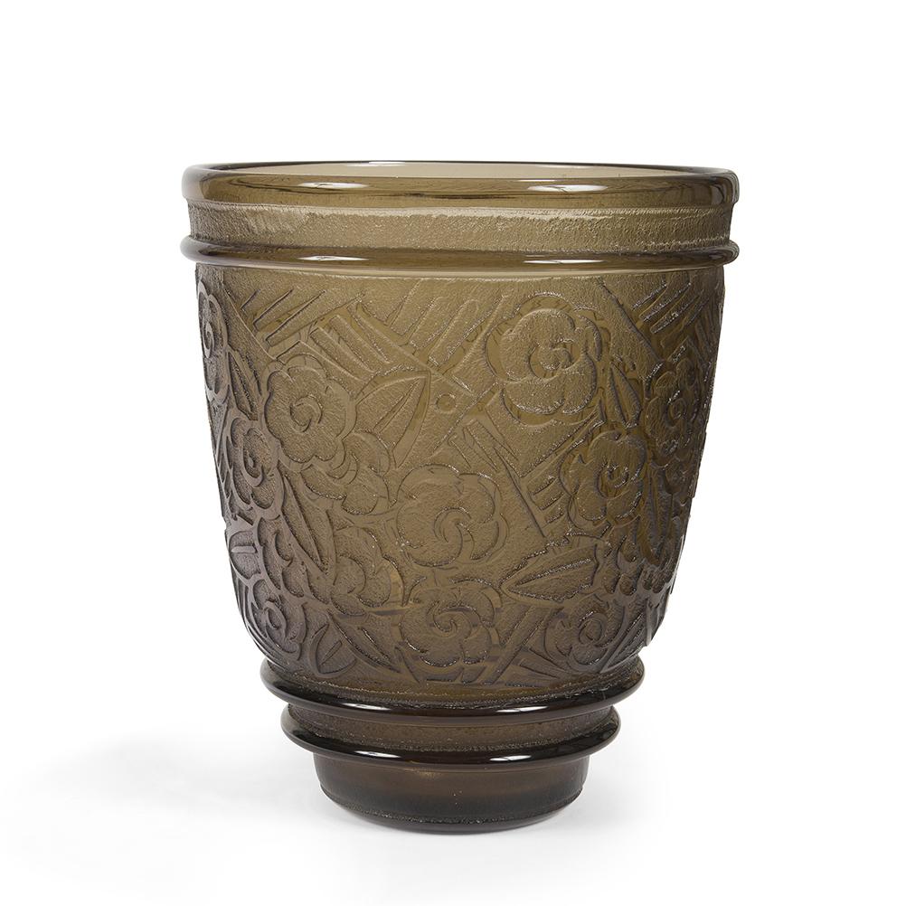 Daum nancy france haut vase largement vas preuve en for Decoration vase en verre