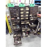 LOT/ 12 DRAWER STEEL CABINET WITH CONTENTS - TOOLS, HARDWARE AND SPARE PARTS