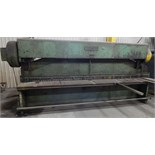 """COLUMBIA 412 PSG HYDRAULIC SHEAR WITH 148"""" OVERALL CUTTING LENGTH, MECHANICAL BACK GAUGE S/N: W161-3"""