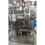 CASER RADIAL ARM DRILL WITH SPEEDS TO 2300 RPM, T-SLOT TABLE S/N: N/A (CI)