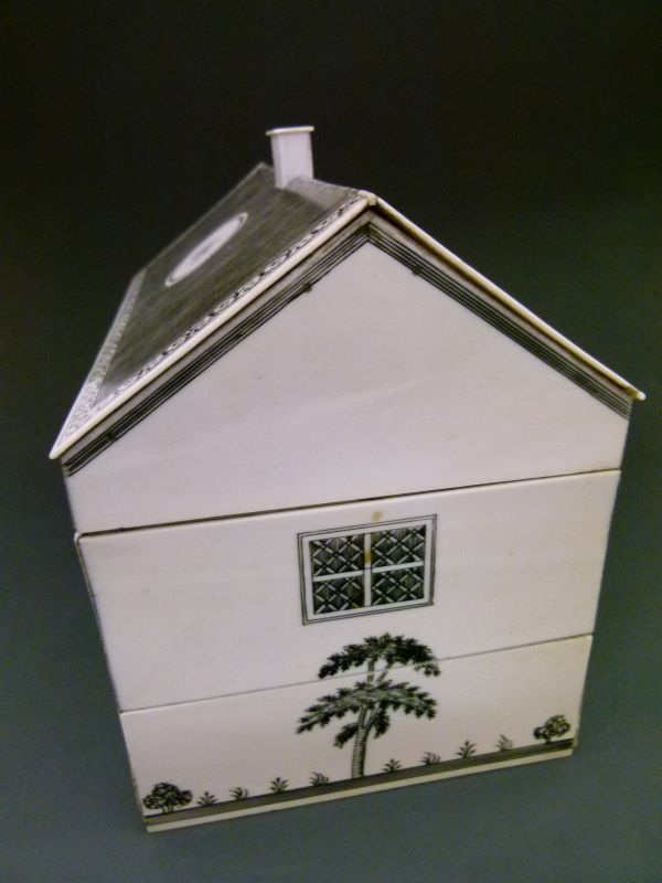 Lot 280 - Rare 19th Century Anglo-Indian Vizagapatam ivory sewing box in the form of a Colonial house, the