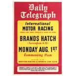 Sport Poster Brands Hatch International Motor Car Racing Daily Telegraph Formula 3