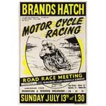 Sport Poster Brands Hatch Motorcycle Road Race Meeting