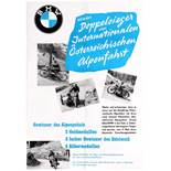 Sport Poster BMW Motorcycle Racing Austrian Alpine Rally Victory