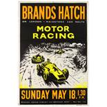 Sport Poster Brands Hatch Motor Car Racing Cooper
